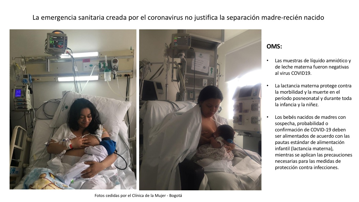 Separar o no a los recién nacidos de sus madres en las UCIs (coronavirus)
