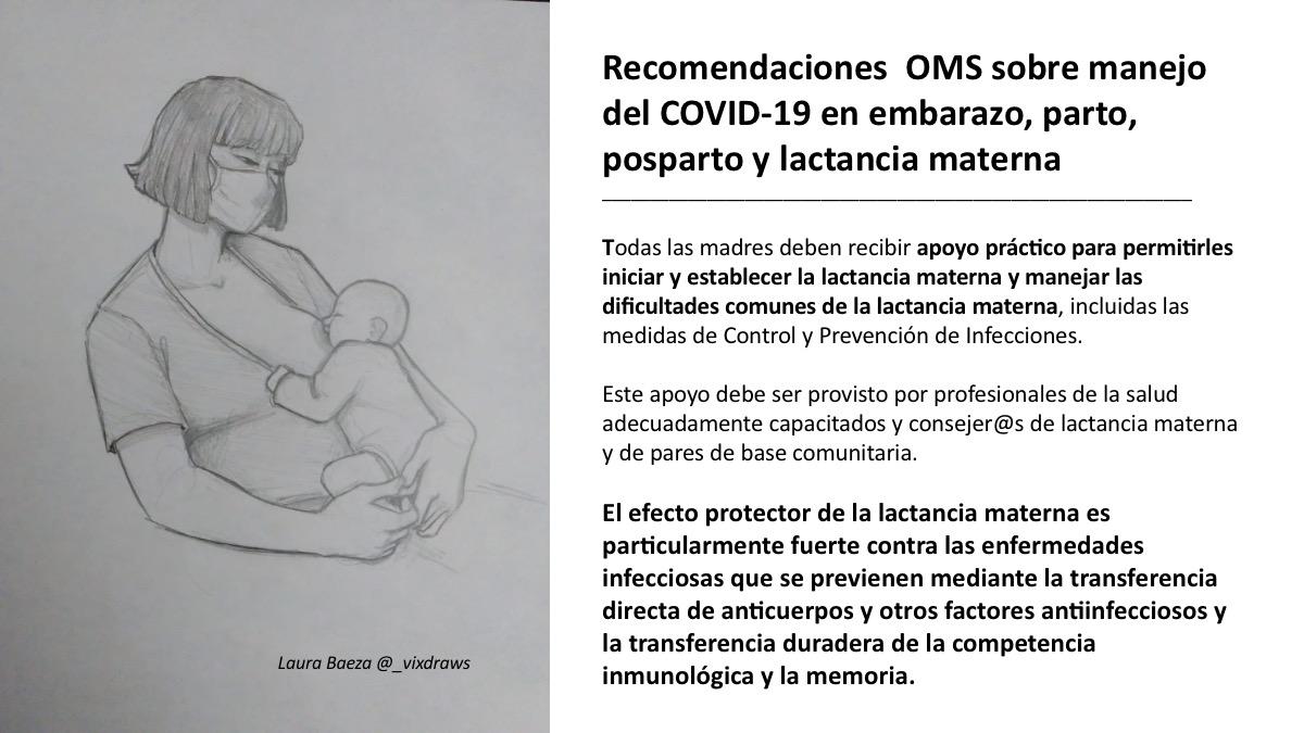 COVID 19: Recomendaciones OMS para asegurar el contacto madre-bebé tras el parto y la lactancia materna